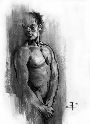 Drawing - Waiting Sketch by Paul Davenport