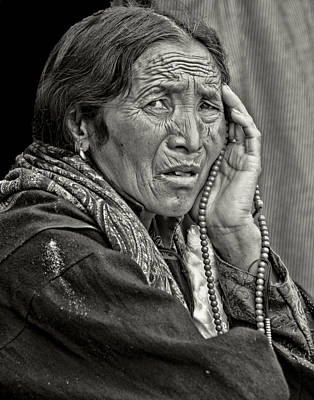 Photograph - Waiting Pensively For The Dalai Lama  by Don Schwartz