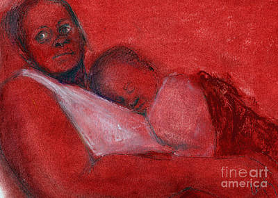 African-american Drawing - Waiting Room by Cecily Mitchell