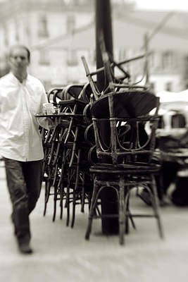 Photograph - Waiting Tables In European Cafe by Matthew Pace
