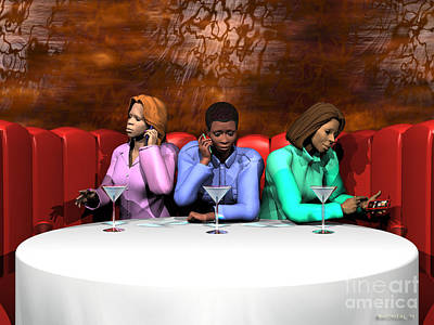Table Cloth Digital Art - Waiting To Exhale by Walter Oliver Neal