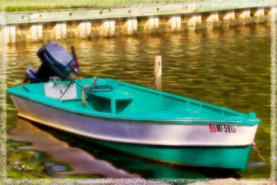 Digital Photograph - Fishing Boat - Skiff - Waiting To Fish by Barry Jones