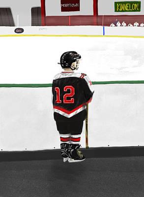 Hockey Digital Art - Waiting To Play by Robert Hubert