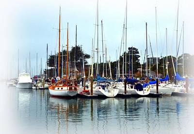 Waiting To Sail Santa Cruz Art Print