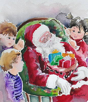 Painting - Waiting Up For Santa2 by Gertrudes  Asplund