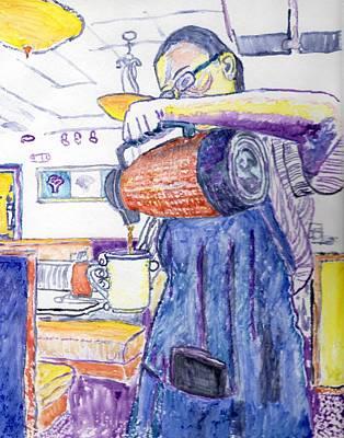 031acf4f8fee Digital Art - Ihop Waitress by Peter Cochran