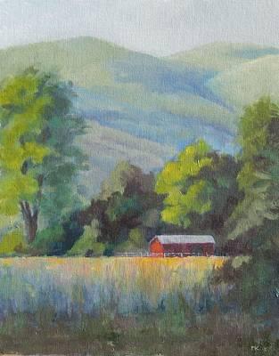 Painting - Waitsburg Farm by Marlene Kingman