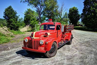 Photograph - Waitsfield Fire Department by Mel Steinhauer