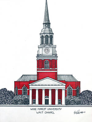 Wake Forest Art Print
