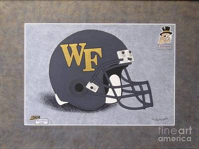 Wake Forest T-shirt Art Print by Herb Strobino