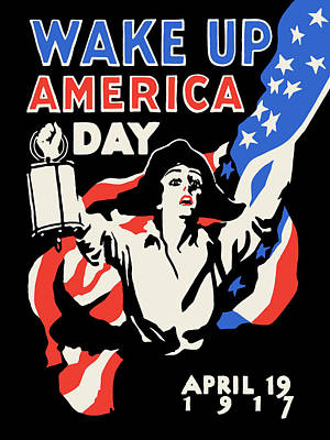 America Digital Art - Wake Up America Day by God and Country Prints