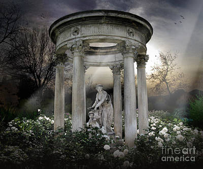 Wake Up My Sleepy White Roses - Sunlight Version Art Print