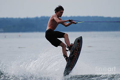Wakeboard Photograph - Wakeboarder by DejaVu Designs