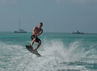 Wakeboarder Photograph - Wakeboarder Getting Air by DejaVu Designs