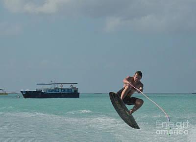 Wakeboarder Photograph - Wakeboarder Jump by DejaVu Designs