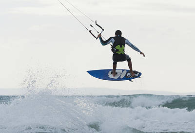 Wakeboard Photograph - Wakeboarding Dos Mares Beach Tarifa by Ben Welsh