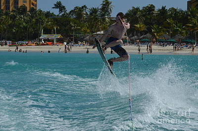 Wakeboarder Photograph - Wakeboarding Grab by DejaVu Designs