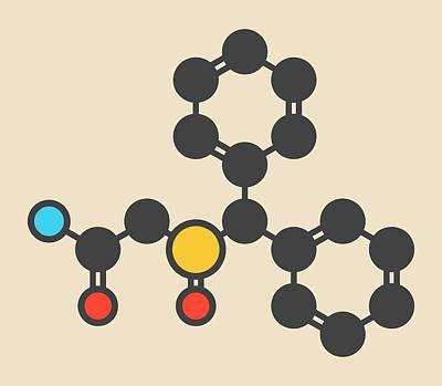 Sleep Disorder Photograph - Wakefulness Promoting Drug Molecule by Molekuul