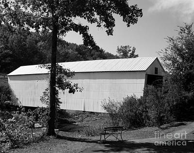 Photograph - Walcott Covered Bridge 2bw by Mel Steinhauer