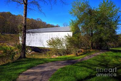 Photograph - Walcott Covered Bridge 3 by Mel Steinhauer