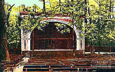 Painting - Waldameer Park Outdoor Theatre by Dwight Goss
