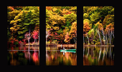 Walden In Three Black  Art Print by Garland Johnson