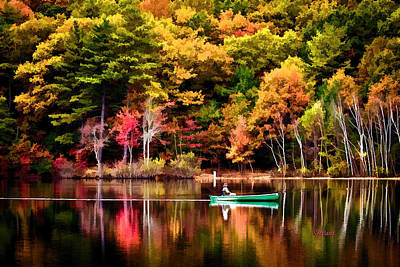 Walden Pond Fall Art Print by Garland Johnson