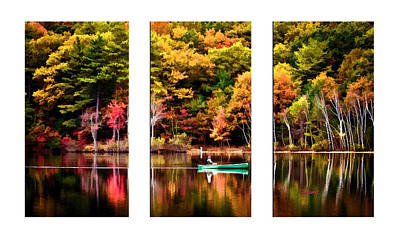Walden Pond In Three Art Print by Garland Johnson