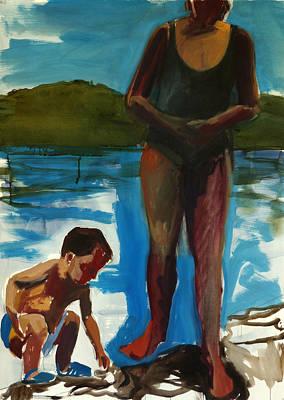 Mums Painting - Walden Pond by Daniel Clarke