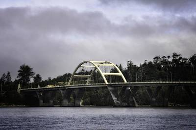 Impressionist Landscapes - Waldport Oregon Bridge by Image Takers Photography LLC - Laura Morgan