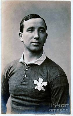 Photograph - Wales International Rugby Union Half Back Dick Jones In International Jersey by Unknown