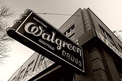Photograph - Walgreen Drugs Neon by Daniel Woodrum