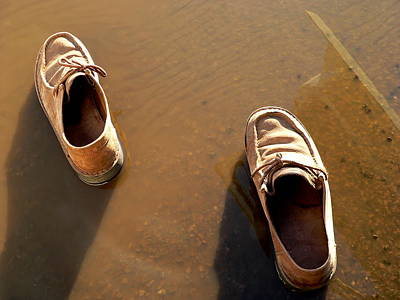 Photograph - Walk A Mile In My Shoes by Jeff Lowe