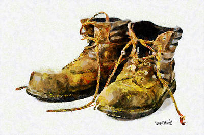 Art Print featuring the painting Walk A Mile In My Shoes by Wayne Pascall