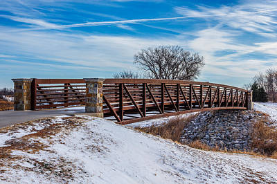 Walk Across Bridge Art Print by Doug Long