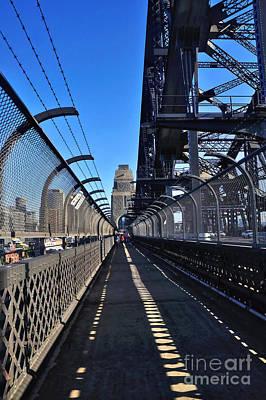 Walk Across Sydney Harbour Bridge Art Print by Kaye Menner
