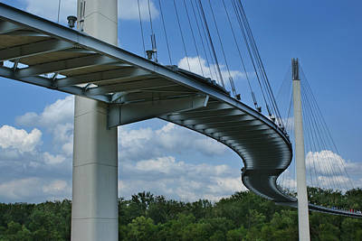 Photograph - Walk Across The Mo - Bob Kerrey Pedestrian Bridge by Nikolyn McDonald