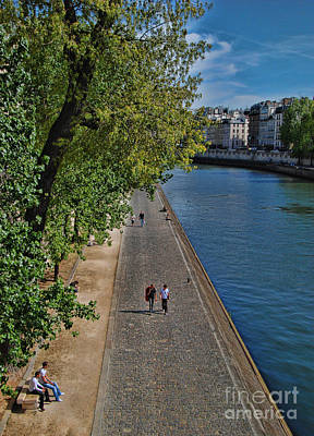 Photograph - Walk Along The Seine by Allen Beatty