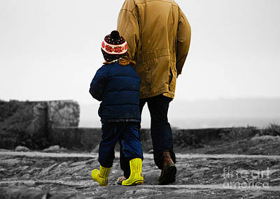 Photograph - Walk Alongside Me Daddy by Terri Waters