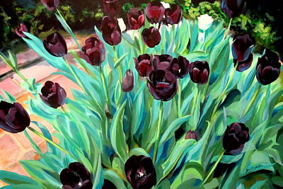 Painting - Walk Among The Tulips by John  Duplantis