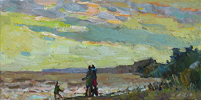 Painting - Walk At Sunset by Juliya Zhukova