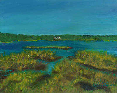 Cape Cod Painting - Walk By Lewis Pond Cape Cod by Viola Holmgren