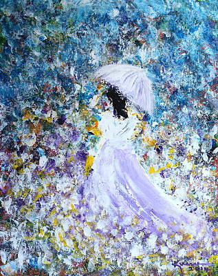 Painting - Walk In The Garden by Kume Bryant