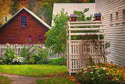 Split Rail Fence Photograph - Walk In The Garden by Priscilla Burgers