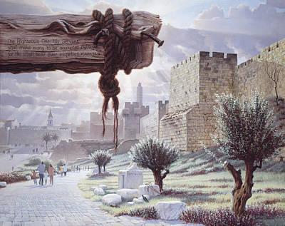 Inspirational Painting - Walk In The Light  Jerusalem by Graham Braddock