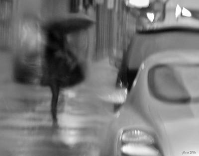 Photograph - Walk In The Rain by JoAnn Lense