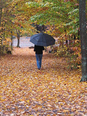 Photograph - Walk In The Rain by Mark C Ettinger