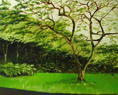 Painting - Walk In Waimea Valley by Sherry Robinson