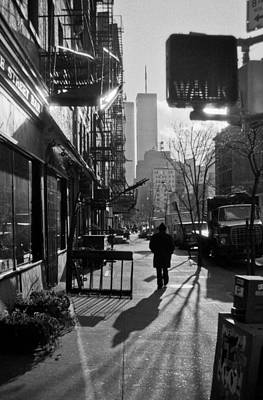 Photograph - Walk Manhattan 1980s by Gary Eason