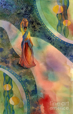 Carrier Painting - Walk Of Dawning by Amy Kirkpatrick